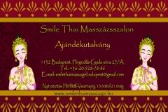 Ajándékutalvány  Smile Thai Masszázs Hegedűs Gyula utca 27/a
